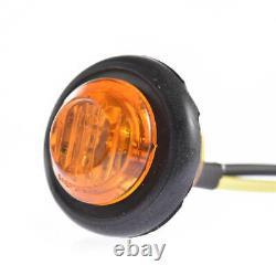 100 3/4 Amber 12V LED Clearance Marker Bullet Truck Trailer Light Lamp US Stock