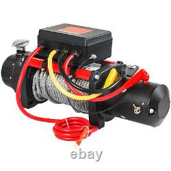 10000LBS 12V Electric Winch Steel Cable 88FT Truck Trailer Towing Off-Road ATV
