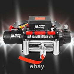 10000LBS Electric Winch 12V 80FT Steel Cable Truck Trailer Towing Off-Road 4WD