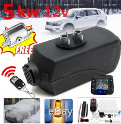 12V 5KW Air Diesel Heater LCD Switch+Silencer Constant Temp For Truck Trailer RV