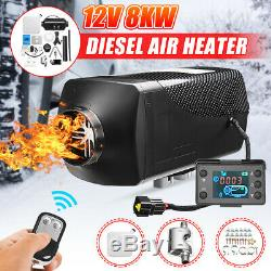 12V 8KW Diesel Air Heater LCD Thermostat Truck Car Boat Trailer RV + Control