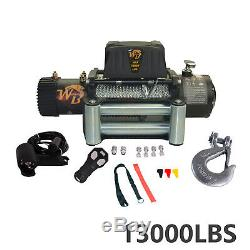 13000LB Electric Recovery Winch Wireless with Roller Fairlead for Truck Off-Road