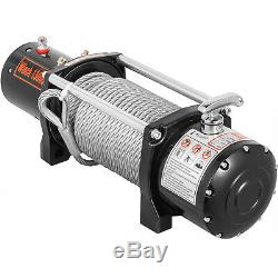 13000LBS Electric Winch 12V 85FT Steel Cable Off-road UTV Truck Towing Trailer