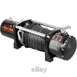 13000lbs Electric Winch 12V 65FT Synthetic Rope 4WD Waterproof Truck Trailer