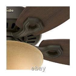 132cm 52 indoor ceiling fan with bowl light kit Hunter Builder Deluxe Bronze