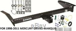 1998-2011 MERCURY GRAND MARQUIS TRAILER HITCH With WIRING KIT DRAWTITE CLASS 3 NEW