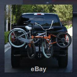 2-Bike Trailer Tow Hitch Mount Bicyle Rack Adjustable Foldable Carrier Kit GT13