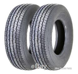 (2) Grand Ride Premium Trailer Tires ST205/75R14 /8PR Load Range D Steel Belted