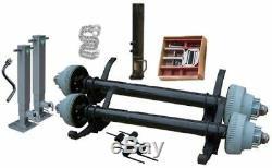 20000 lb 25'x102Gooseneck Flat Deck Trailer Parts Kit (2) 10000 lb Brake Axles