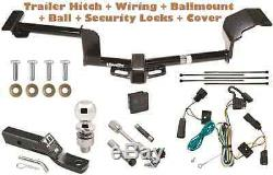 2009-2020 FORD FLEX TRAILER TOW HITCH PKG DELUXE With WIRING + HITCH LOCKS & COVER