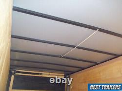 2021 7 x 16 enclosed cargo trailer black screwless sides LED deluxe build 7x16+2