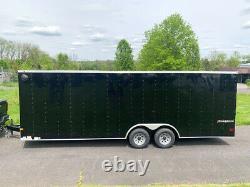 2021 Wells Cargo FastTrac Deluxe 9,990lb Enclosed Motorcycle Car Trailer 24
