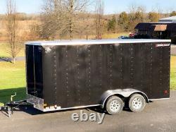 2021 Wells Cargo FastTrac Deluxe Enclosed Motorcycle Utility V-Nose Trailer 7x16