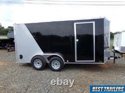 2021 nationcraft 7 x 14 2 tone Silver blk New cargo enclosed trailer deluxe LED