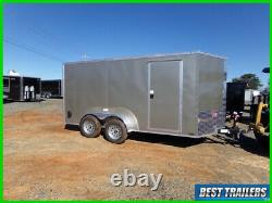 2021 nationcraft 7 x 14 arizonia beige New cargo enclosed trailer deluxe LED
