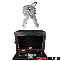 24 Heavy Duty Black Aluminum Tool Box Truck Storage Hinge Trunk Trailer Storage
