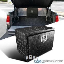 24 Heavy Duty Black Textured Aluminum Tool Box Trailer Storage Trunk Under Bed