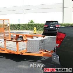 29 Heavy Duty Aluminum Tool Box Truck Storage Trunk Trailer Tongue with Lock