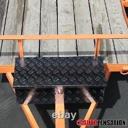 30 Heavy Duty Black Aluminum Tool Box Truck Storage Trailer Organizer with Lock