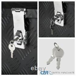 30x 13x 10 Black Aluminum Tool Box Trunk Under bed Trailer Truck Storage+Lock