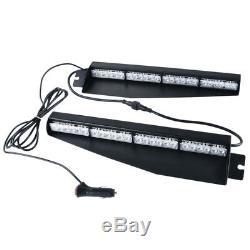 34 48 LED Warning Emergency Visor Dash Strobe Flash Light Bar Red Blue Amber Y
