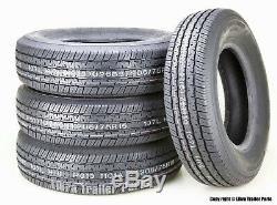 4 Premium GRAND RIDE Radial Trailer Tire ST205 75R15 /8PR LR D Steel Belted