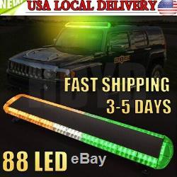 47'' 88 LED Emergency Strobe Light Bar Warning Truck Response Beacon Tow Trailer