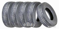 5 New Premium Grand Ride Trailer Tires ST 205 75R14 / 8PR Load Range D