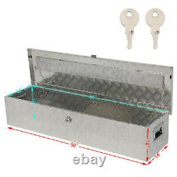 50 Aluminum Tool Box Pickup Truck Trailer Toolbox Underbody Storage with Keys