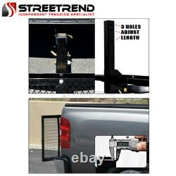 59 Black Steel Foldable Trailer Tow Hitch Cargo Carrier Tray For 2 Receiver SD