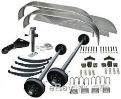 7000 lb Car Carrier Trailer Parts Kit (2) 3500 lb Brake/Idler Axle