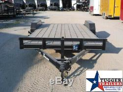 83x20 20ft Deluxe Open Auto Mobile Race Car Hauler Utility Flatbed Trailer