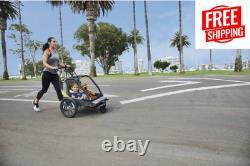 Allen Sports Deluxe 2-Child Bicycle Trailer & Stroller