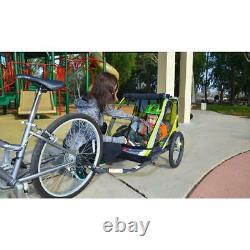 Allen Sports Deluxe 2-Child Bike Trailer Green