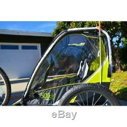 Allen Sports Deluxe 2-Child Bike Trailer Lightweight Durable safe/comfortable