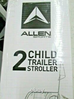 Allen Sports Deluxe Steel 2-Child Bicycle Trailer and Stroller, S2 Yellow