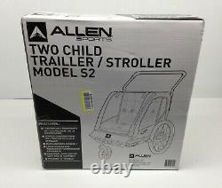 Allen Sports Deluxe Teel 2-Child Bike Trailer/Stroller Yellow
