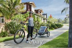 Allen Sports T2-G Deluxe 2-Child Bike Trailer -Green
