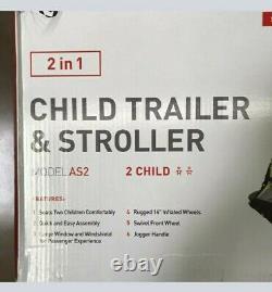Allen sports deluxe 2 In 1 child bike trailer and stroller New in box