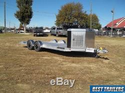 Aluma 8220 H executive 7 x 20 carhauler deluxe aluminum trailer 10k equipmet