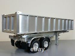 Aluminum Electric Lift Dump Bed Trailer Tamiya R/C 1/14 Toy King Grand Hauler