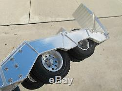 Aluminum Lowboy Rider Flatbed Trailer Tamiya R/C 1/14 King Grand Knight Hauler