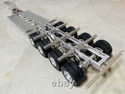 Aluminum Toy 1/14 4 Axle 16 Wheeler Goose Neck RC truck excavator trailer Tamiya