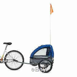 Bell Wallaby Deluxe 2 Child Steel Bicycle Trailer Blue Folds Flat NIB Ships FREE
