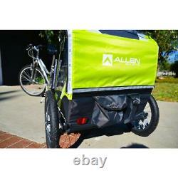 Bike Trailer Deluxe 2-Child Lightweight Folding Pull Cart Transport Outdoor
