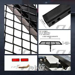 Black Mesh Foldable Trailer Hitch Luggage Cargo Carrier Rack Hauler Tray 59 G05