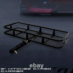 Blk Mesh Foldable Trailer Hitch Luggage Cargo Carrier Rack Hauler Basket 50 G05