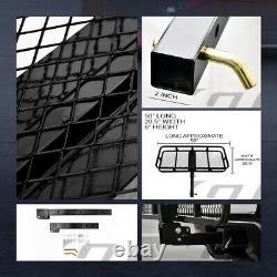 Blk Mesh Foldable Trailer Hitch Luggage Cargo Carrier Rack Hauler Basket 50 G14