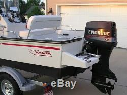 Boston Whaler Deluxe Boat With Updated Outboard And New Swing Tongue Trailer