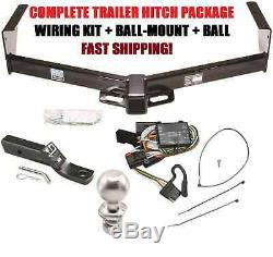 COMPLETE TRAILER HITCH PACKAGE With WIRING & BALLMOUNT